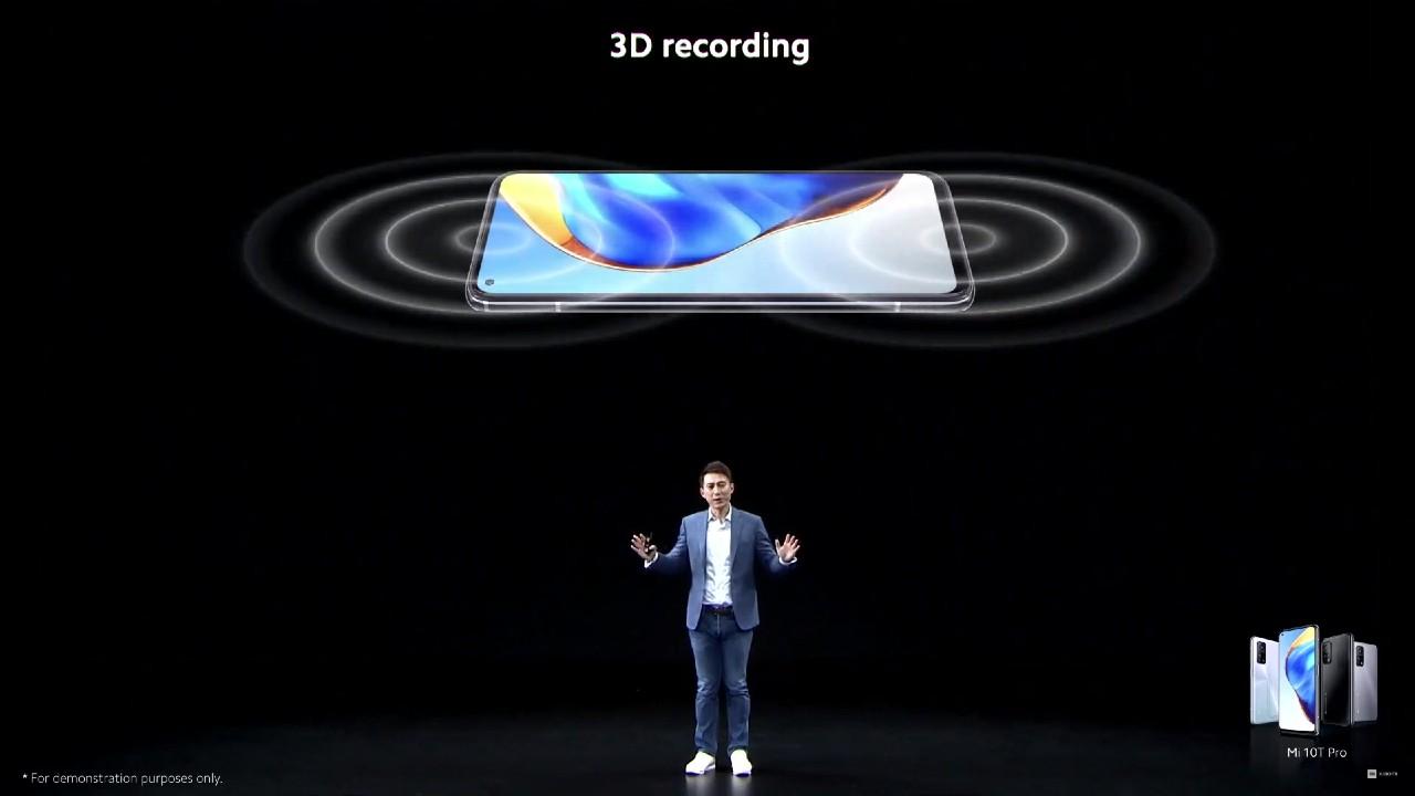 Xiaomi Mi 10T 3D nahravanie zvuku