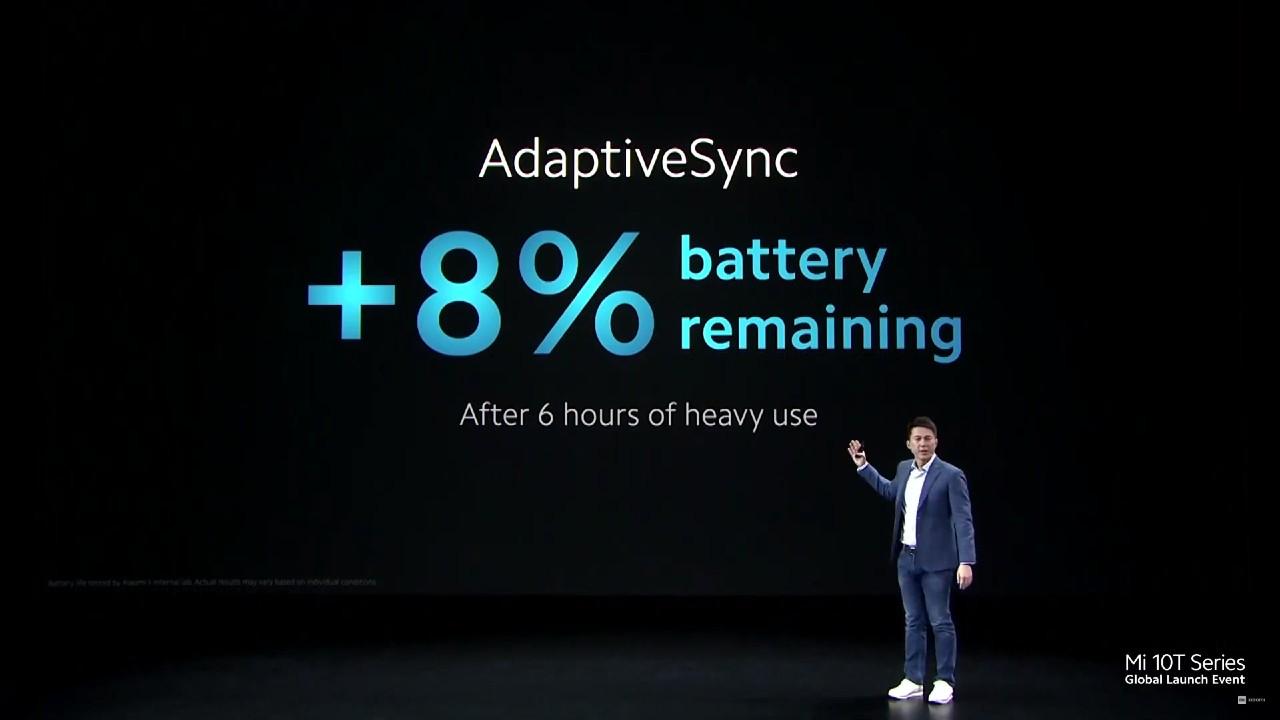 Xiaomi Mi 10T a 10T Pro_adaptiveSync_vplyv na bateriu