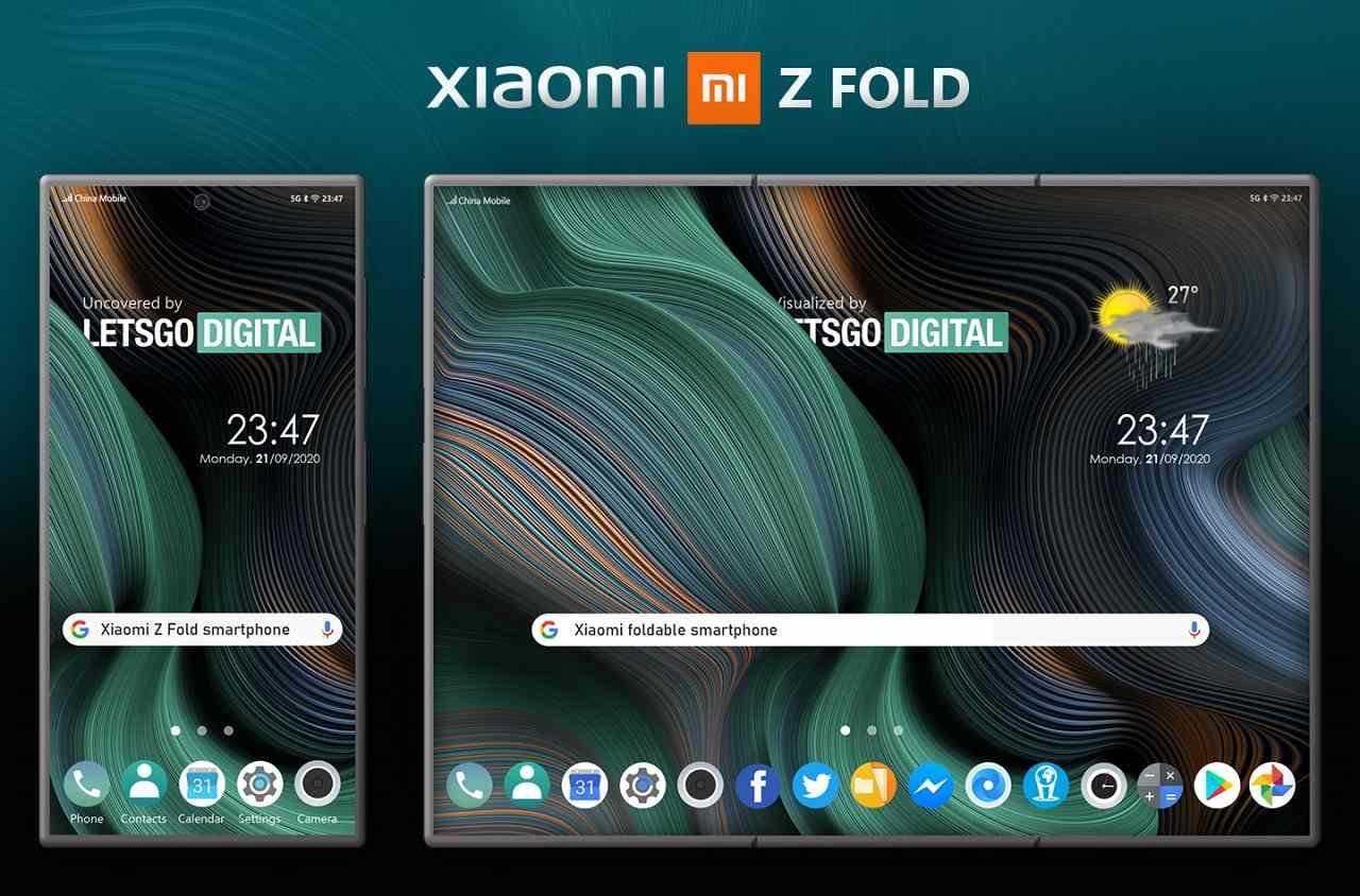 Xiaomi Z Fold_patent skladatelneho smartfonu