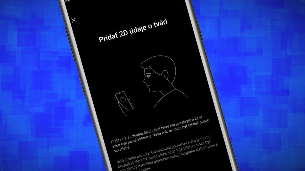 Xiaomi a Redmi_odomykanie zariadenia pomocou tvare