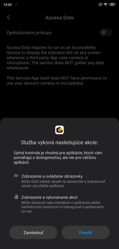 Acess dots_povolenie aplikacie_1