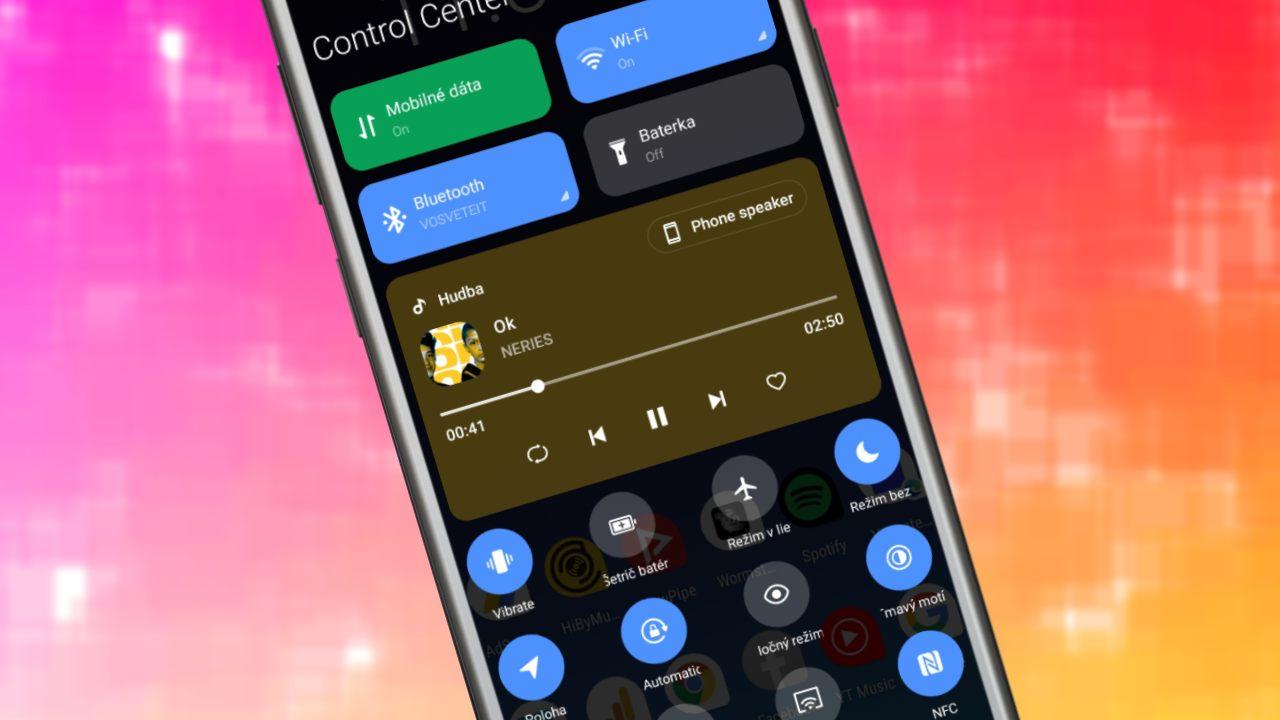 Android 11_rozhranie notifikacnej listy a ovladanie hudby_Xiaomi