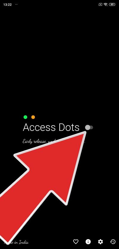 access dots_zapnutie funkcie_1