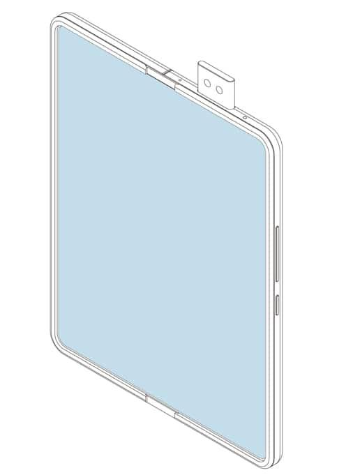 patent skladatelneho samrtfonu Xiaomi s vysuvnou kamerou