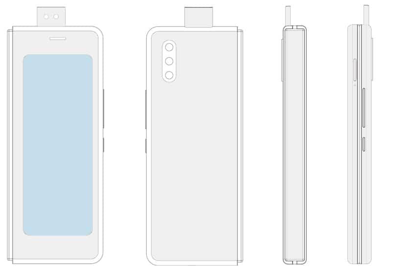 patent skladatelneho samrtfonu Xiaomi s vysuvnou kamerou_2