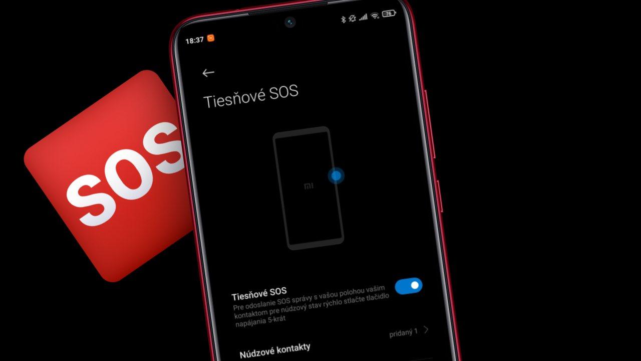 SOS funkcia Xiaomi smartfon ako zapnut