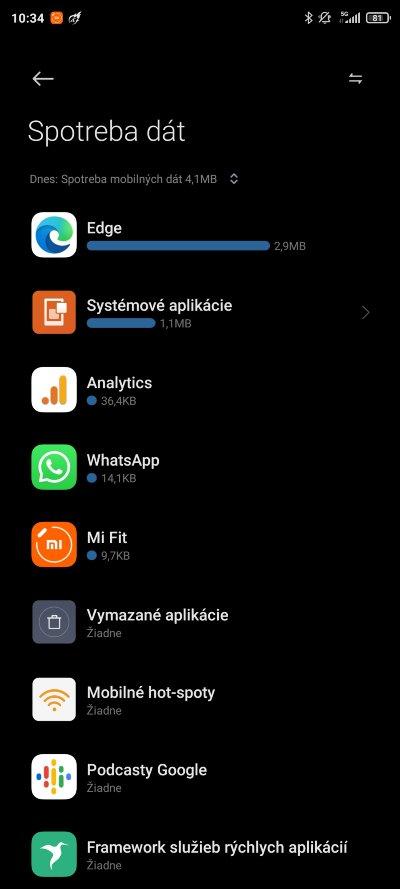 kontrola spotreby dat aplikaciami