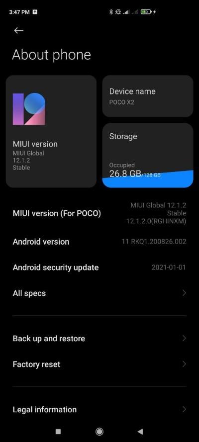 Poco X2_Android 11 aktualizacia (2)