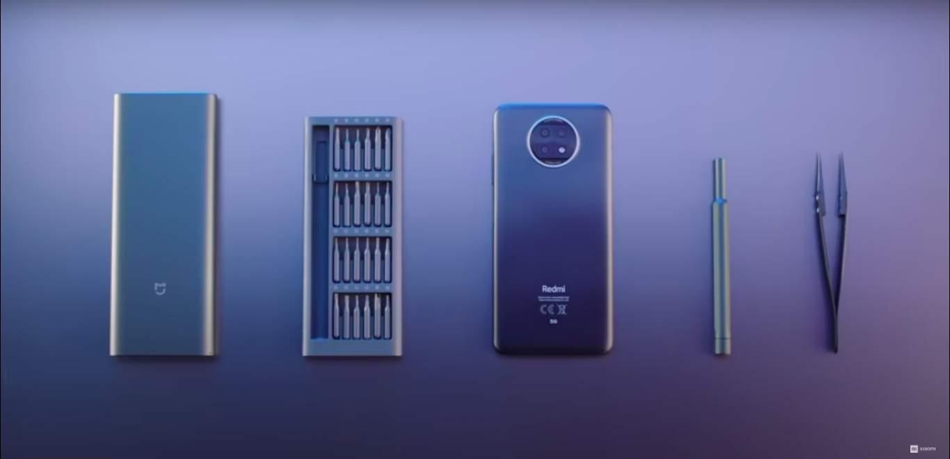 Xiaomi Redmi Note 9T deconstruction.