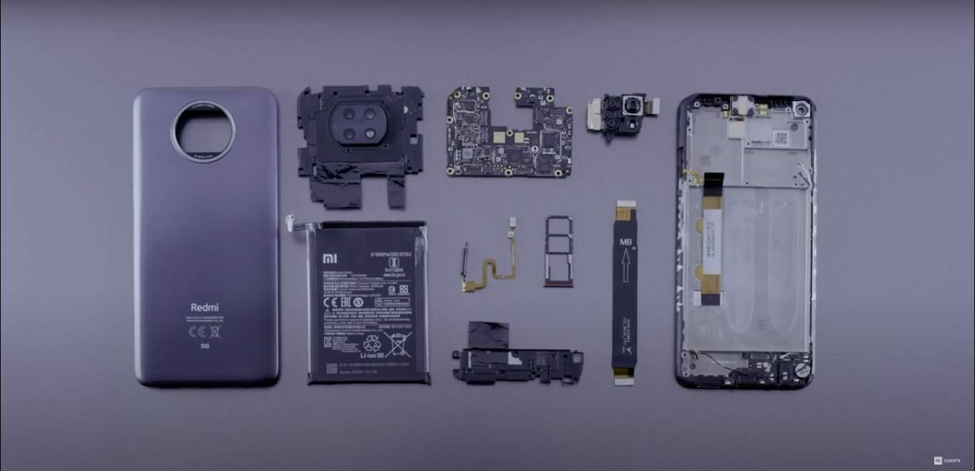 Xiaomi Redmi Note 9T deconstruction. Zdroj: Xiaomi