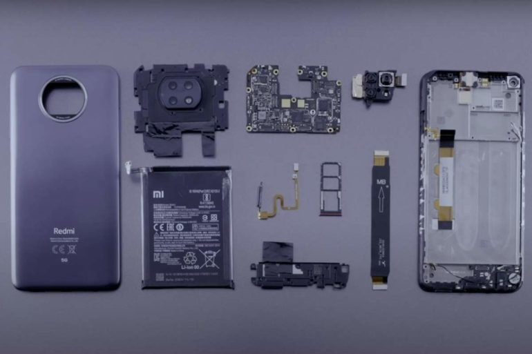 Dekonštrukcia Xiaomi Redmi Note 9T 5G