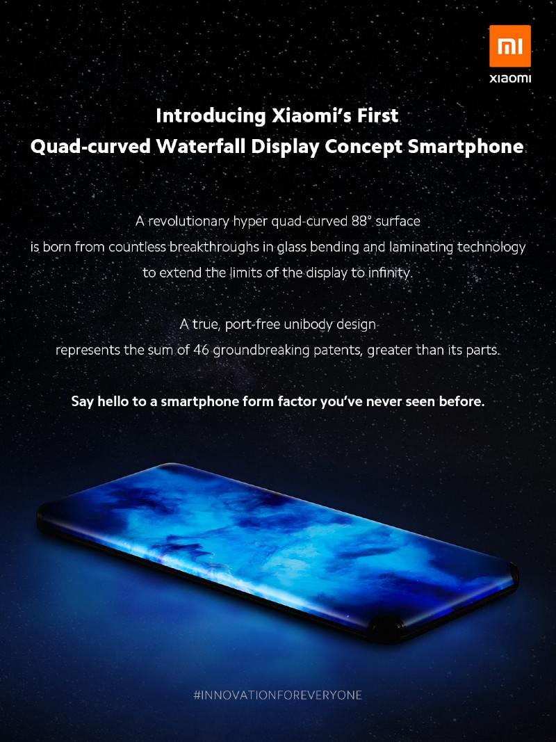 Xiaomi smartfon ako z buducnosti zo zahnutymi vsetkymi hranami