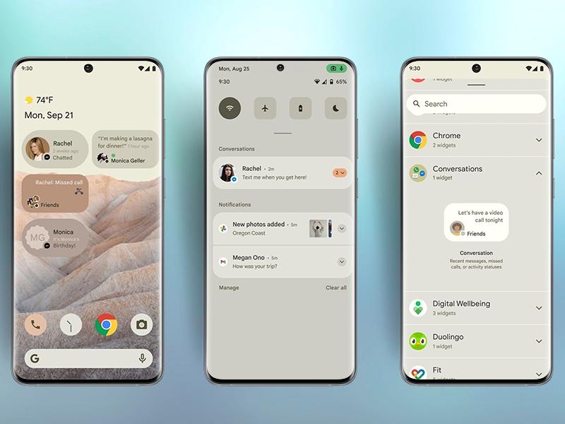 Zmenený look operačného systému Android 12. OS dorazí na veľa telefónov Xiaomi, Redmi a Poco.