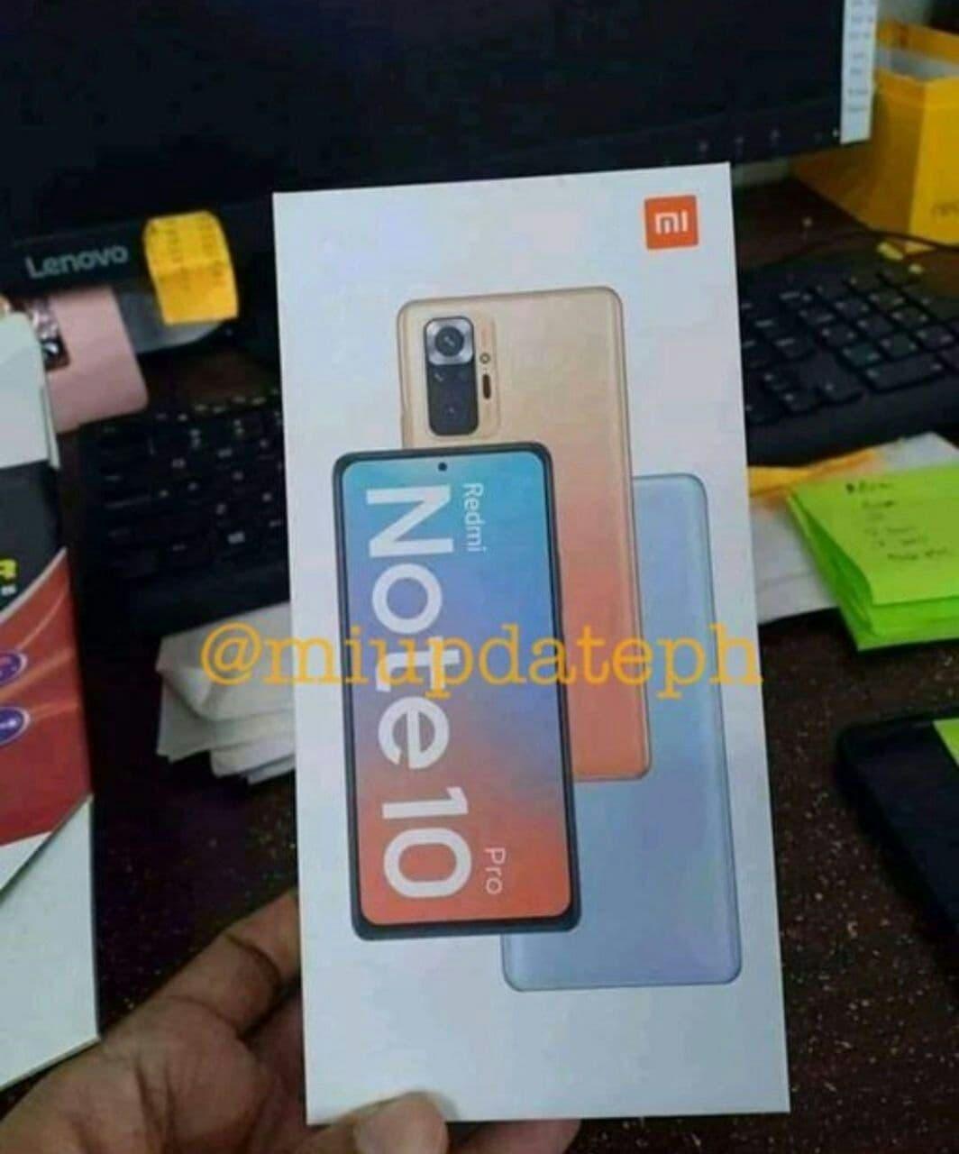 Údajná krabica Redmi Note 10 Pro