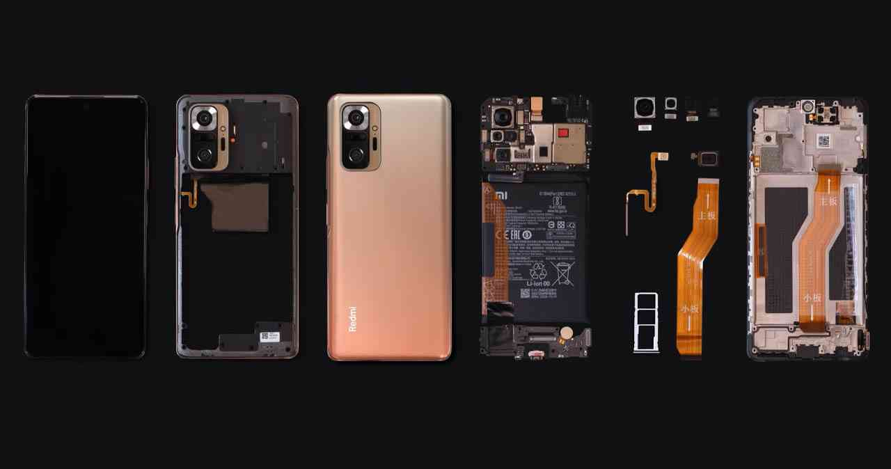 Teardown video Redmi Note 10 pro.