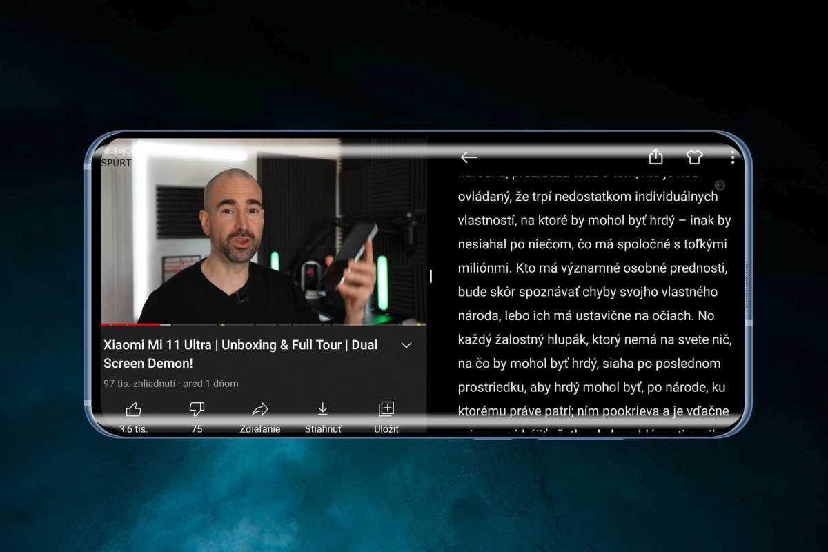 Split screen je jednou z funkcií MIUI.