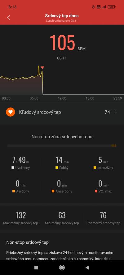 Mi Band 6 tep tracking