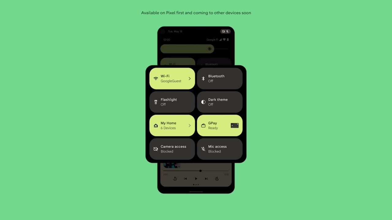 Android 12_blokovac pristupu k mikrofonu a ku kamere
