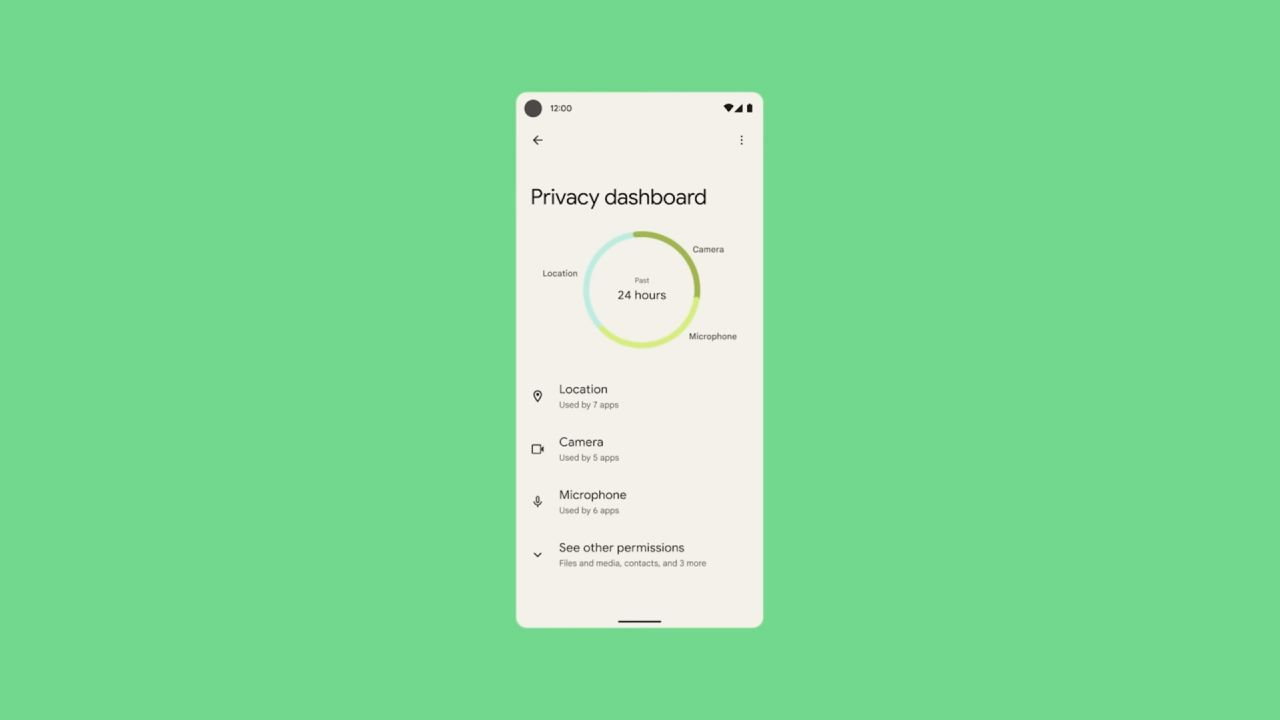 Android 12_novy panel sukromia