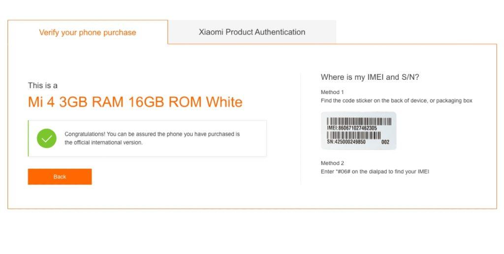 Xiaomi zariadenie overenie