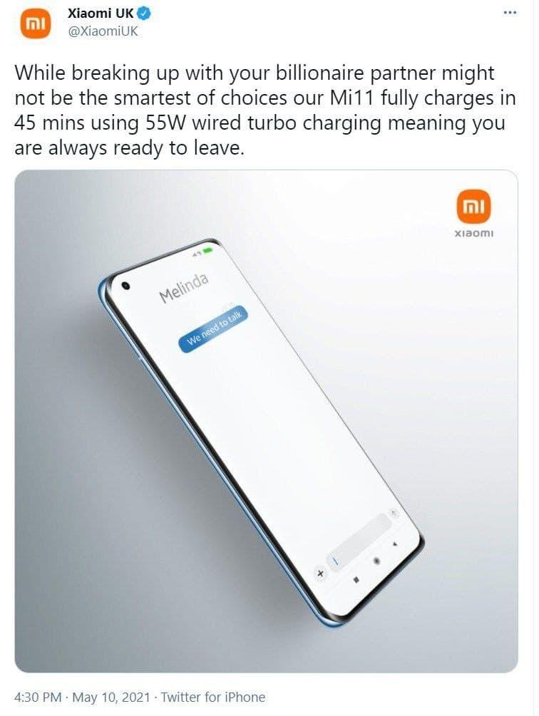 Xiaomi UK Twitter Gates
